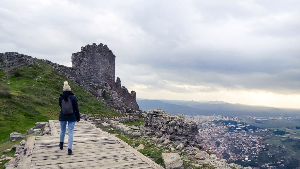 Zirvede bir antik kent Pergamon