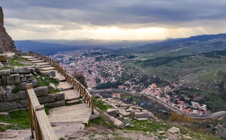 Pergamon'dan Bergama manzarası